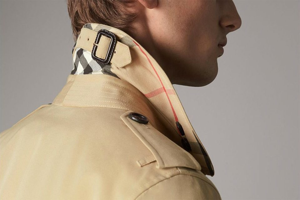 Illustration trench Burberry