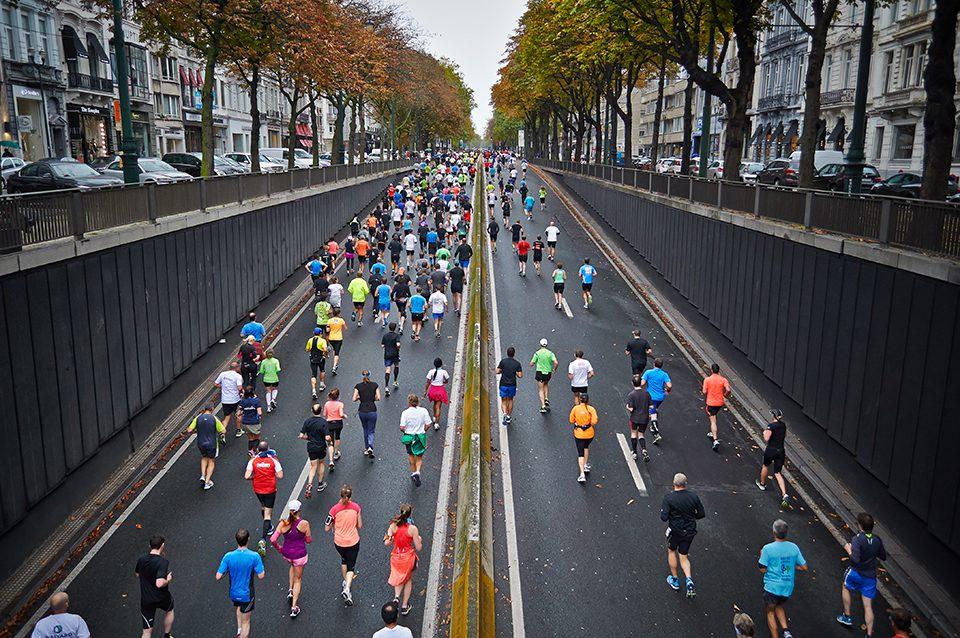 Running marathon paris