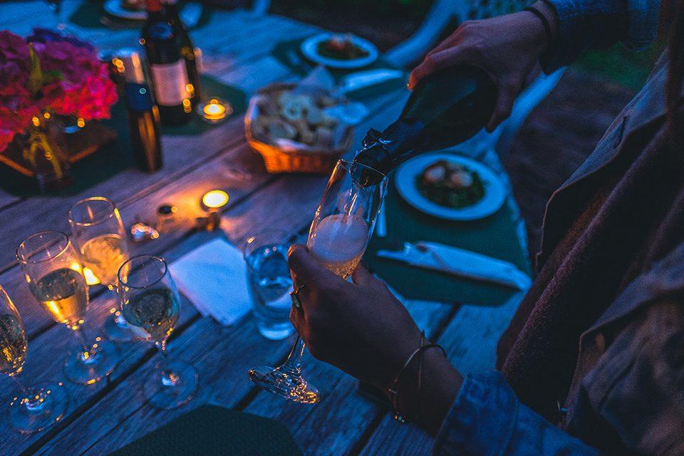 champagne fete