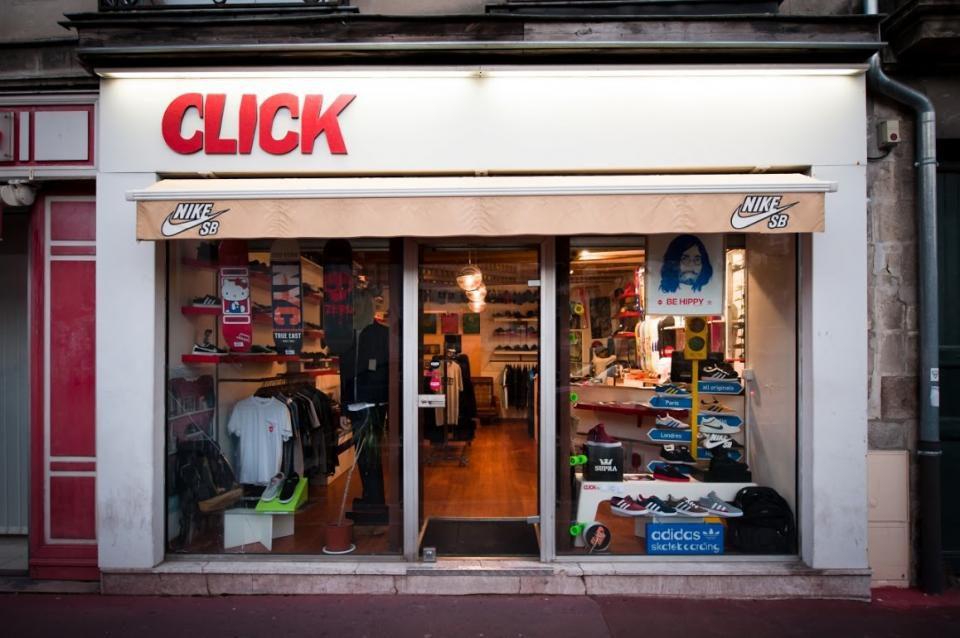 Click Skateshop Vitrine Nantes