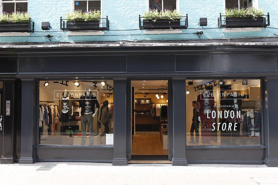 Eleven Paris Londres Vitrine