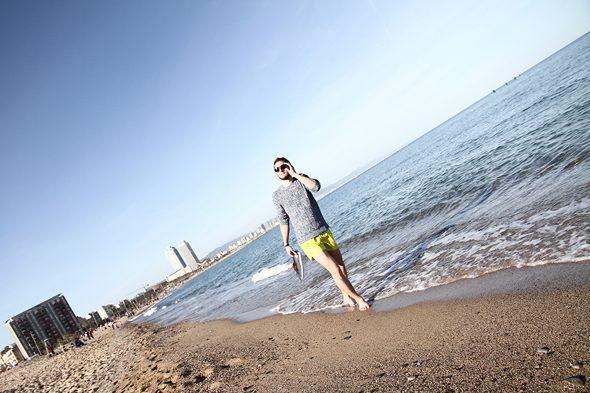 Martine à la plage