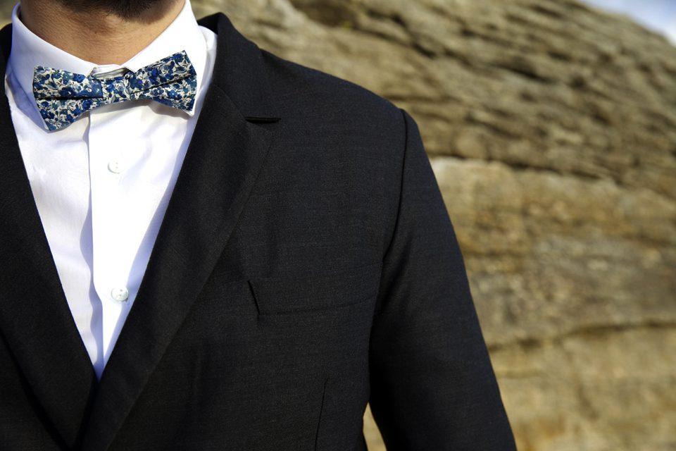 chemise cavalier bleu portee
