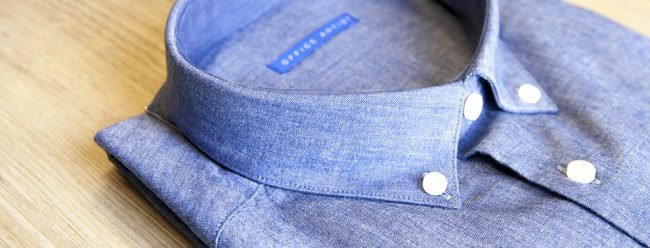 Chemise chambray Office Artist col profil