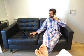 Pyjama au bureau