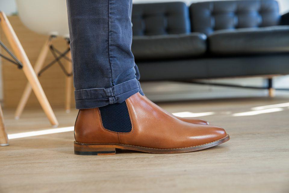 test chelsea boots homme pied de biche