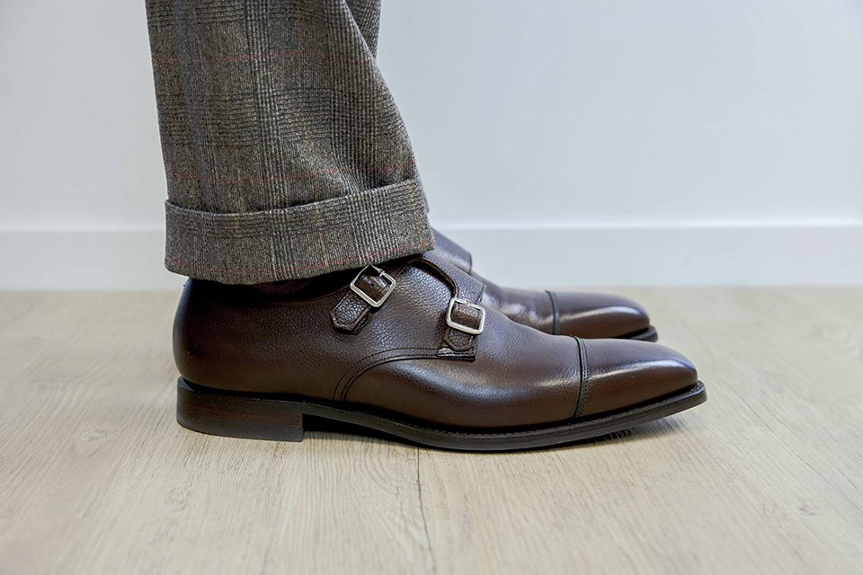 Double boucle Crockett & Jones Look Tweed