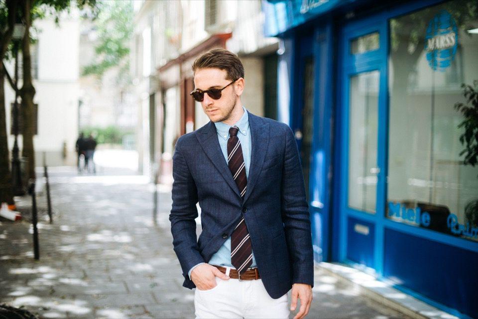 Sprezzatura Marais Paris blogueur homme look ete costume