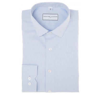 chemise bleu clair premiere manche