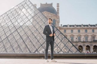 look homme louvre costume