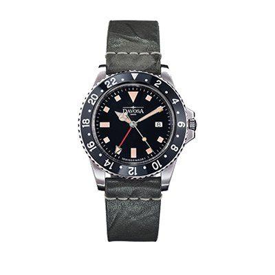 Montre Davosa Diver Vintage-noire