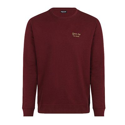 Sweat Les Types Top bordeaux