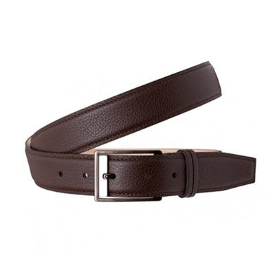 ceinture en cuir marron office artist
