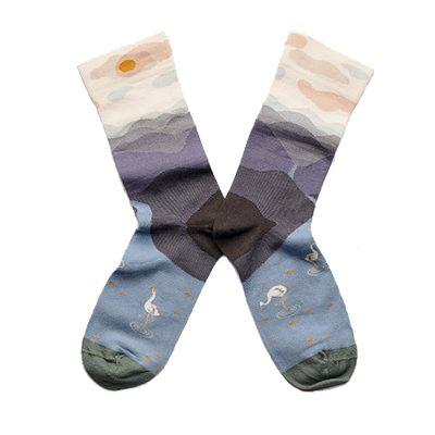 chaussettes bonne maison montagne nocturne