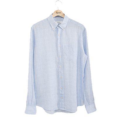 chemise Apoint en lin italien bleu ciel