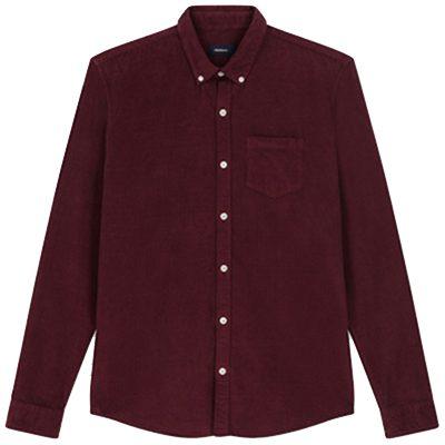 chemise balibaris tribeca velours bordeaux
