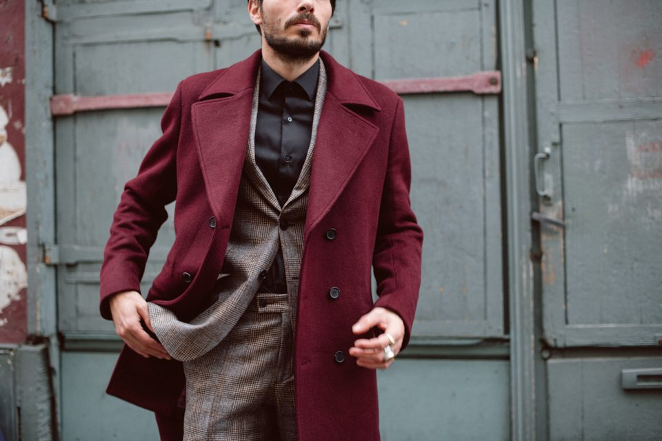 hockerty manteau bordeaux camby essayage