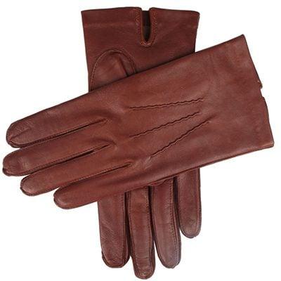 gants dents en cuir cabretta doublure de soie