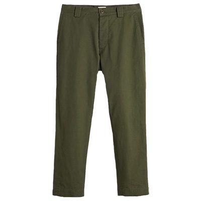 pantalon droit bellerose jypo kaki