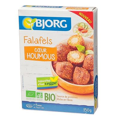Falafels coeur houmous Bjorg