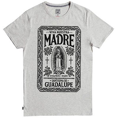 t-shirt gris nuestra madre stepart