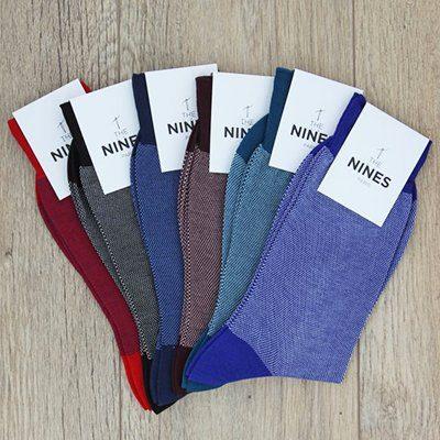 semainier de 6 paires de chaussettes en fils d'écosse The Nines