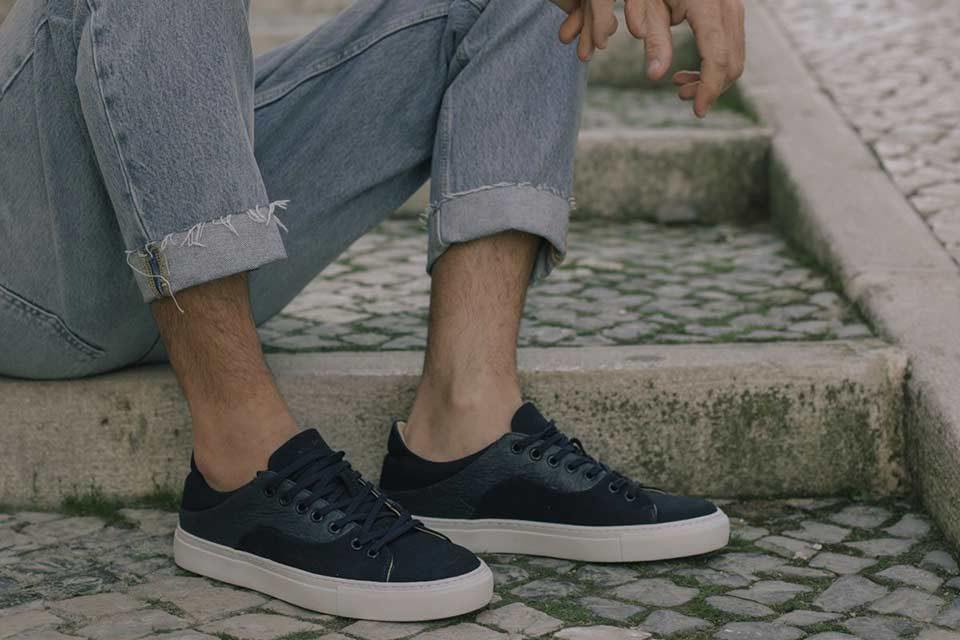 Sneakers Vegan Bleu