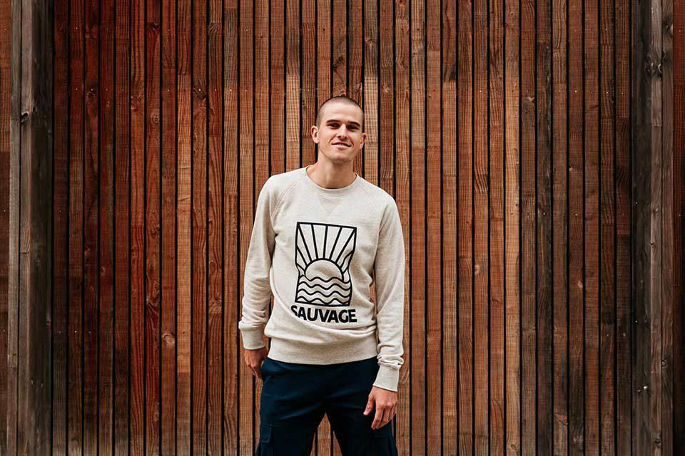 Sweatshirt Gris Faguo