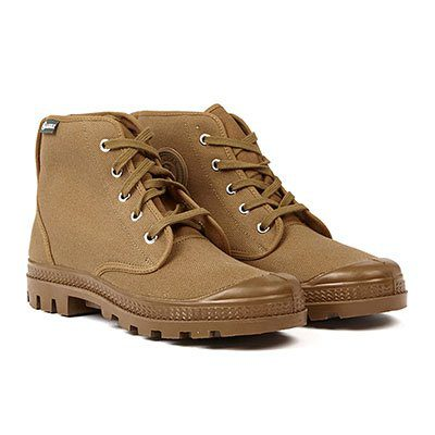 chaussures en toile montantes marron aigle