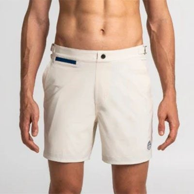 short de bain stretch beige Debayn