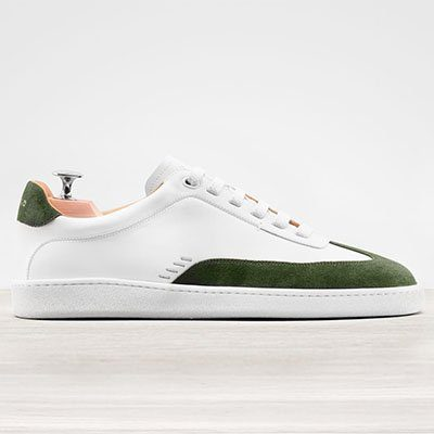 sneakers maxime en cuir et veau velours in corio