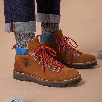 boots faguo suède et cuir de vachette