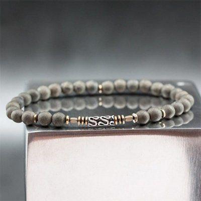 bracelet perles pyrite casteld