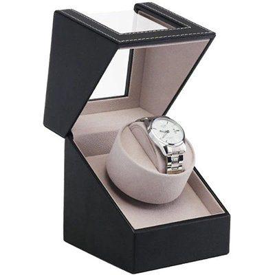 remontoir automatique montre simili cuir noir Giordano