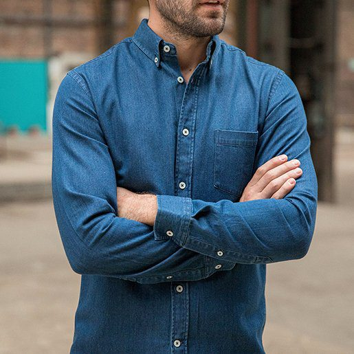 Chemise denim Paname Collections washed