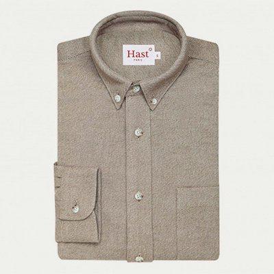 chemise en flanelle beige Hast