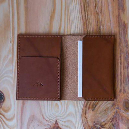 porte cartes maison des comperes marron