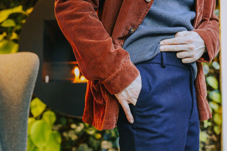 Pantalon bleu maisonstandards profil poche