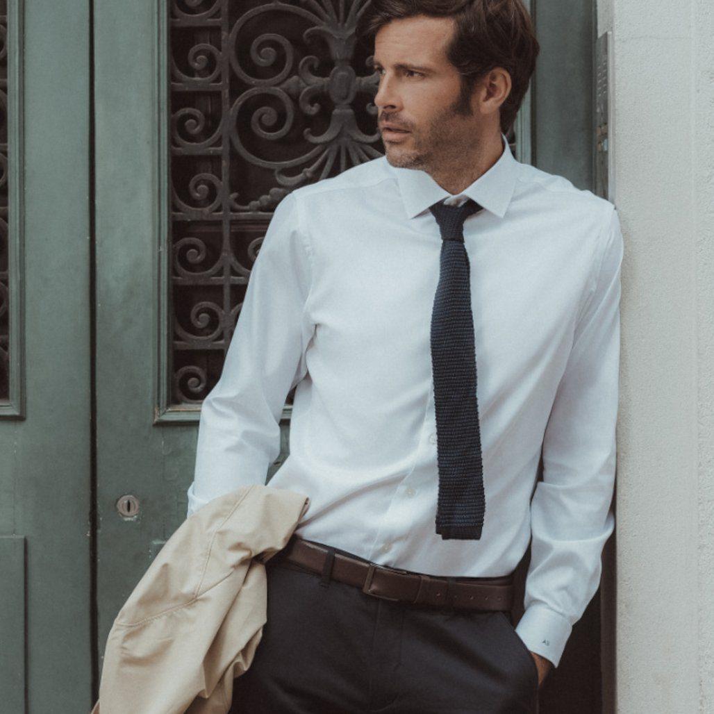 chemise blanche oxford le chemiseur
