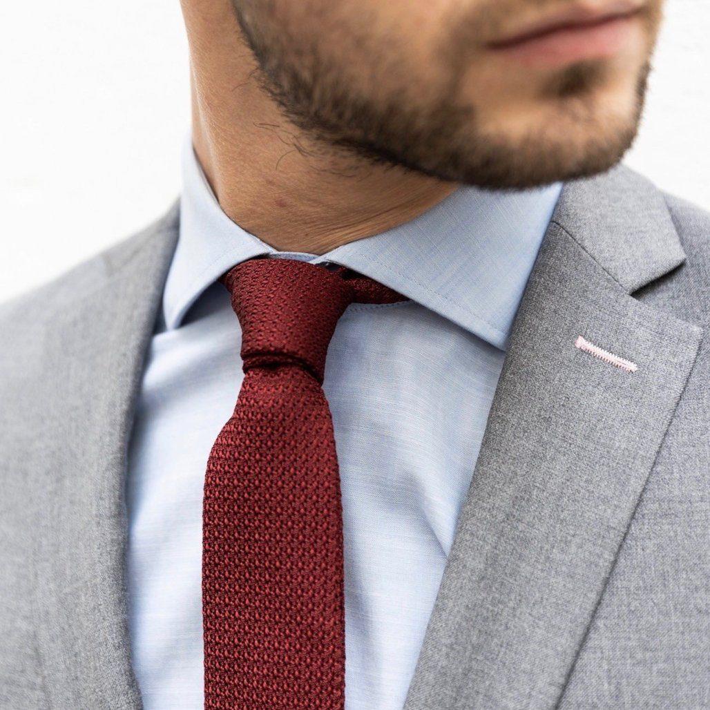 cravate rouge bordeaux atelier partiulier