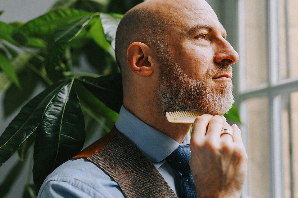 Huile barbe Clay peigne