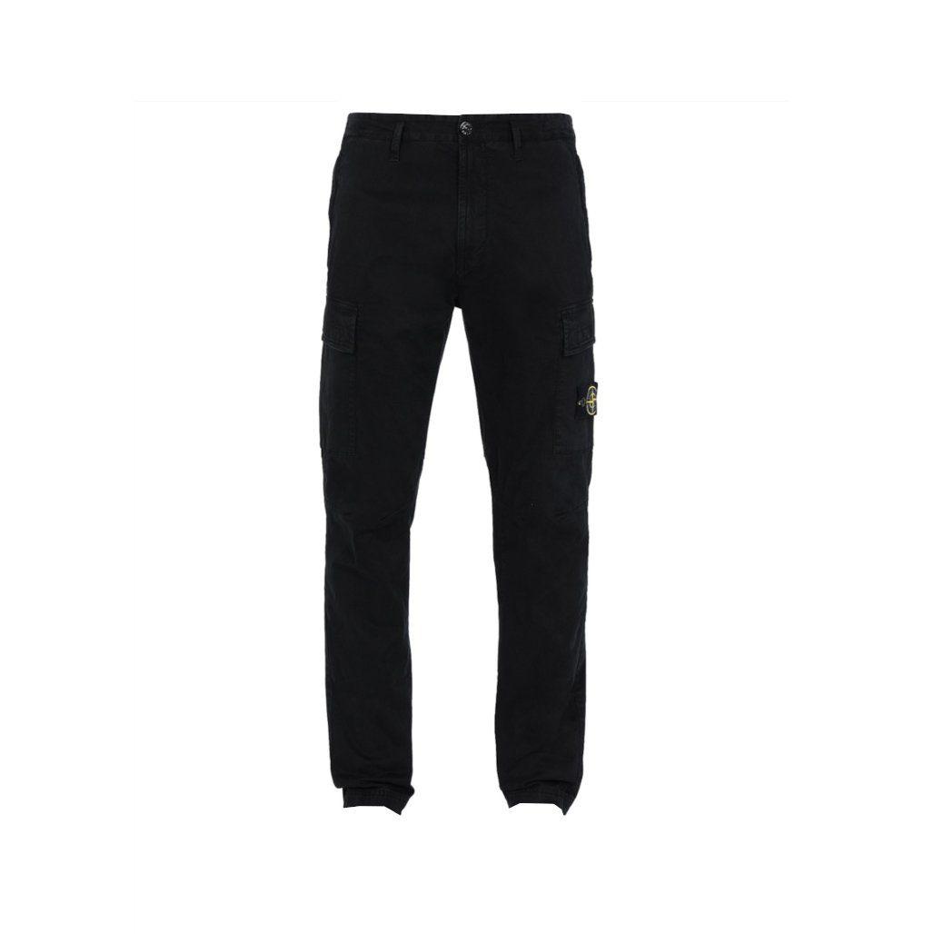 pantalon cargo noir stone island