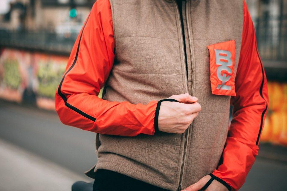 veste gilet bouclé velotaf fermeture zip