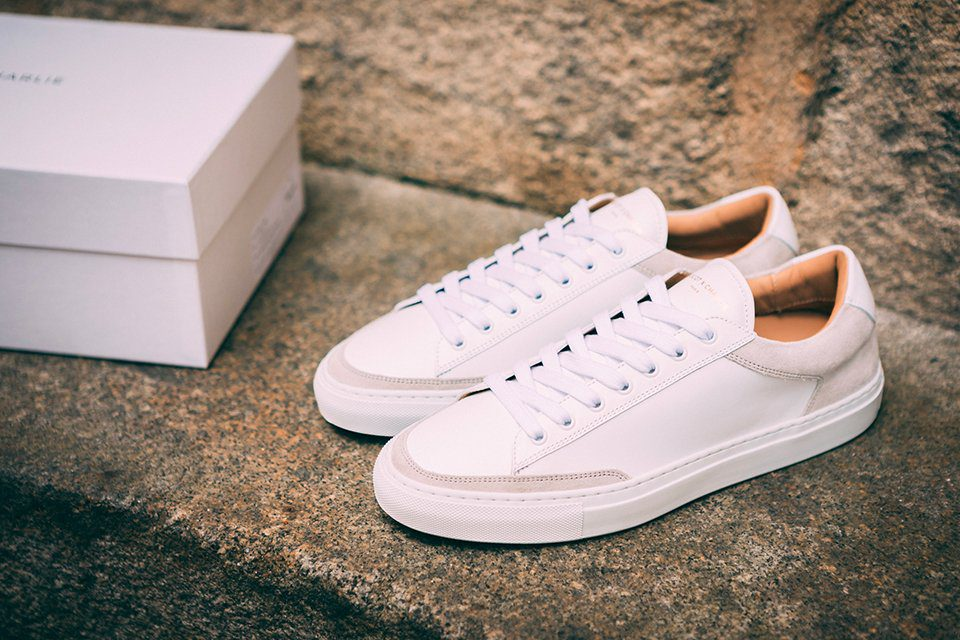 basket ascot et charlie sneakers blanche casual profil