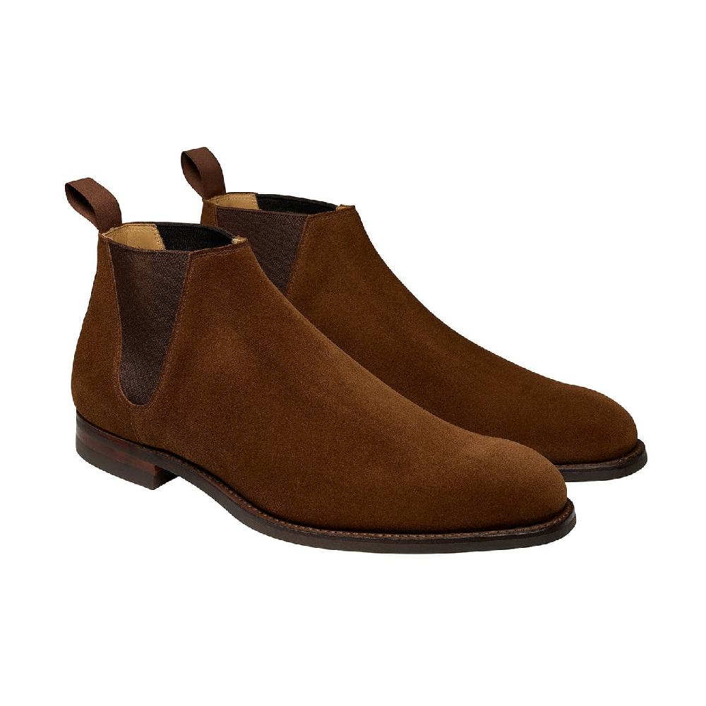chelsea boots crockett & jones marron
