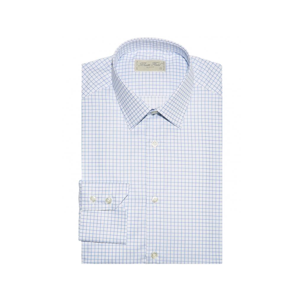chemise bruce field benton à carreaux bleu clair