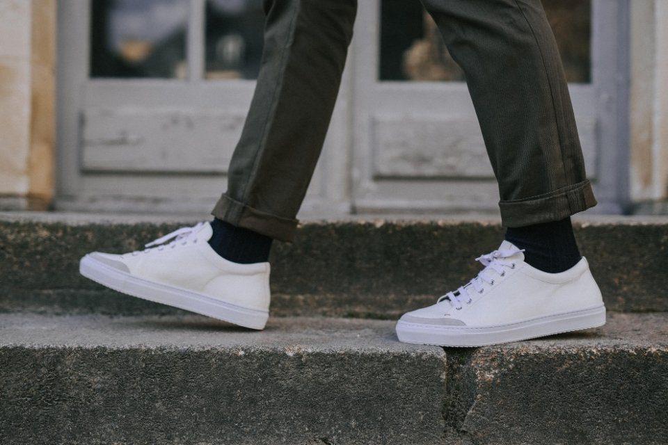 basket sneakers hardrige blacnhe cuir