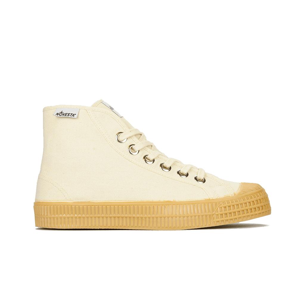 sneakers montantes novesta en toile crème
