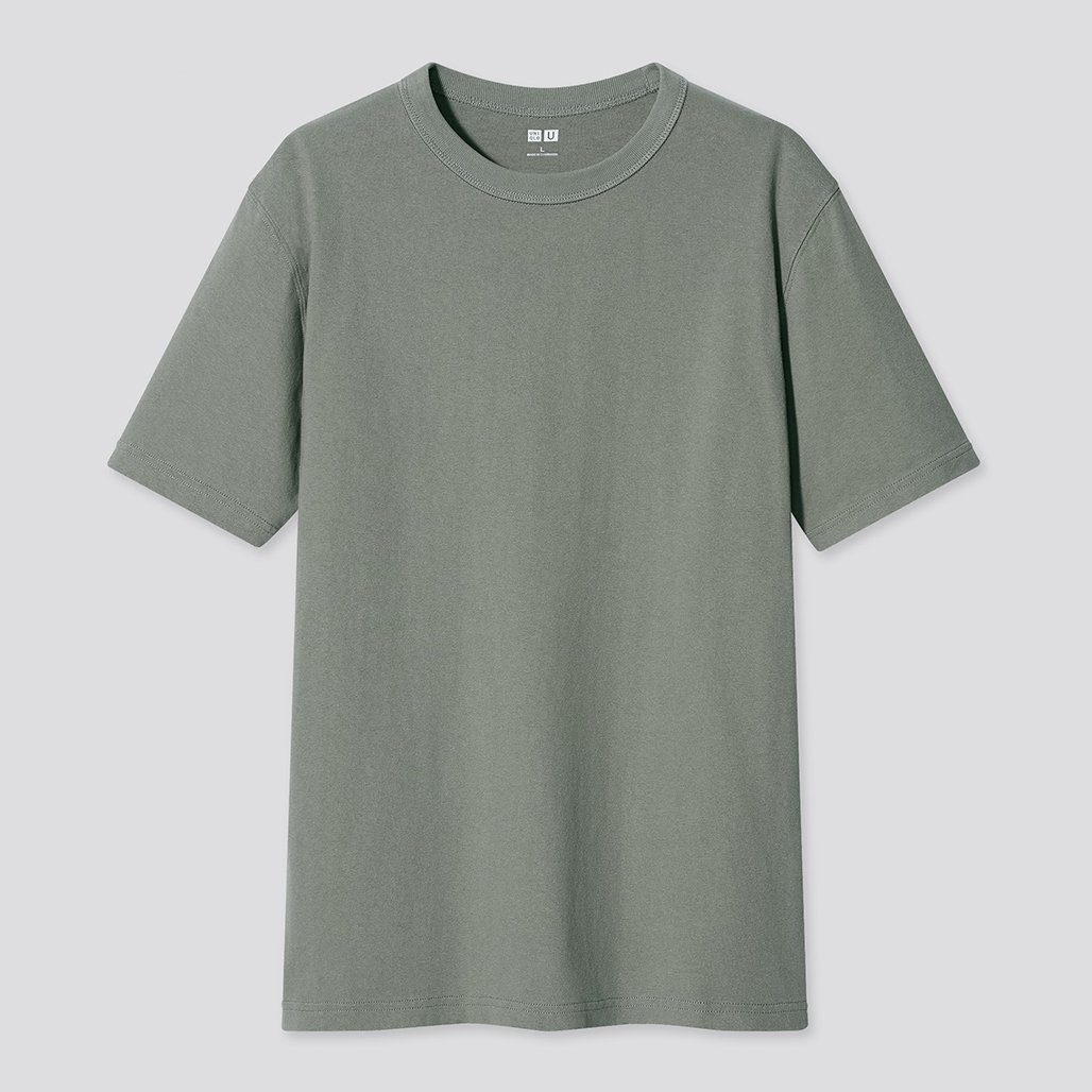 t-shirt uniqlo u kaki