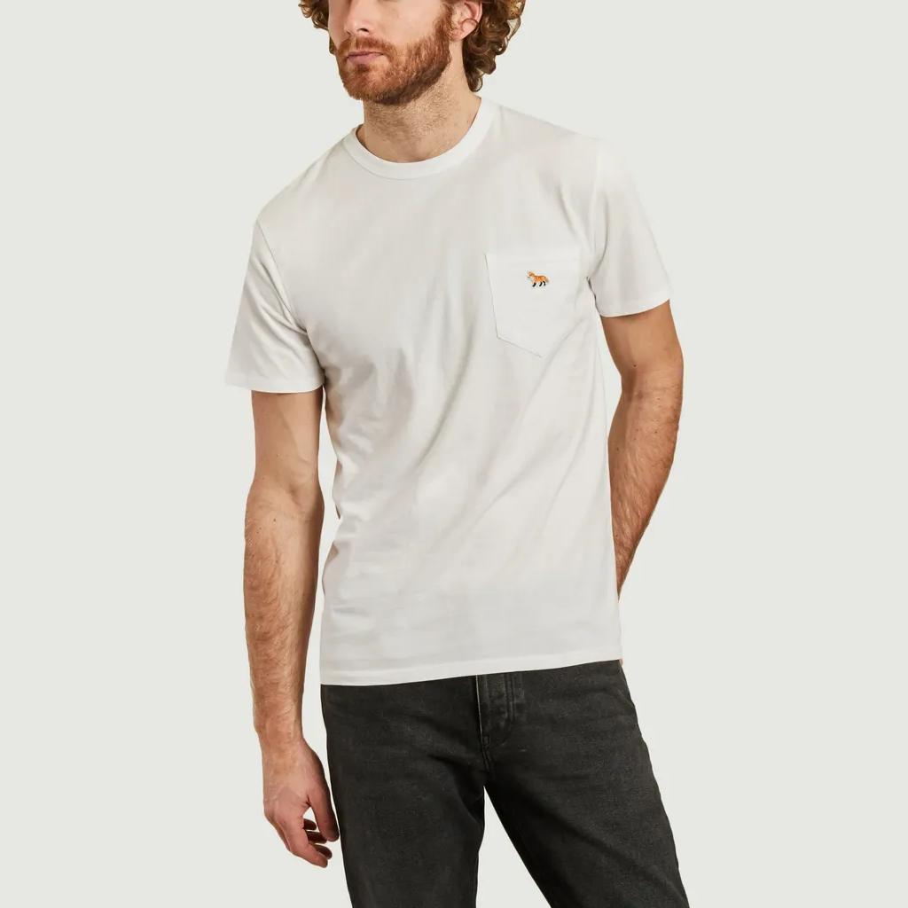 t-shirt maison kitsuné blanc